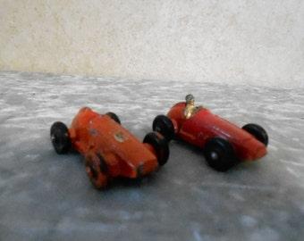 2 - 1950's Metal Race Cars
