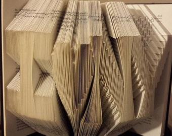 "Folded Book Art - ""I (Heart) N Y"""