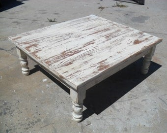 Reclaimed wood coffee table.  Old reclaimed wood. Custom made in USA.