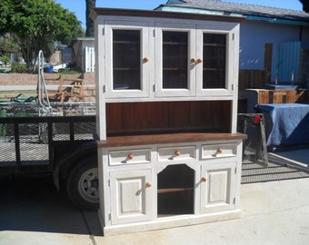 Reclaimed wood Hutch custom made in the USA from reclaimed wood