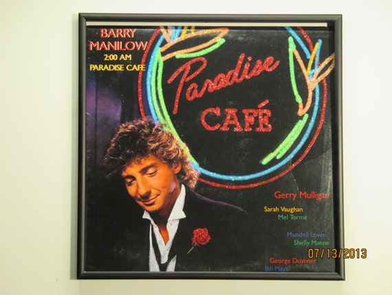 Glittered Record Album - Barry Manilow - 2:00 AM Paradise Cafe