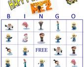 Despicable Me 2  Bingo Instant Download