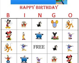 Mickey Mouse Clubhouse Bingo Instant Download