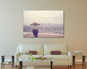 The View: Los Angeles -  Canvas Gallery Wrap - California, Cali, SoCal, cityscape, travel, cinema, movies, industry, movie, decor, wall, art