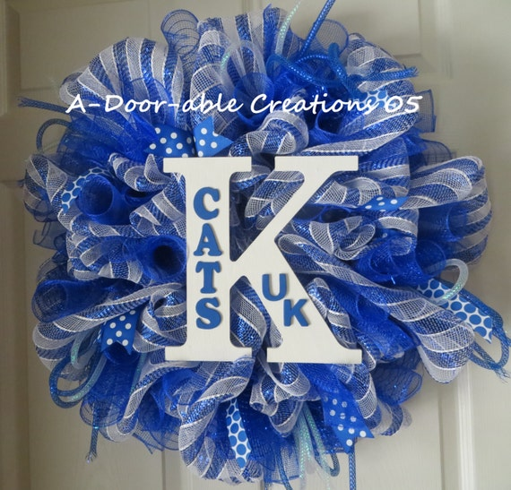Uk Wildcats Deco Mesh Wreath