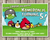 Angry Birds Birthday Invitation - Angry Birds Birthday Party - DIY Printable