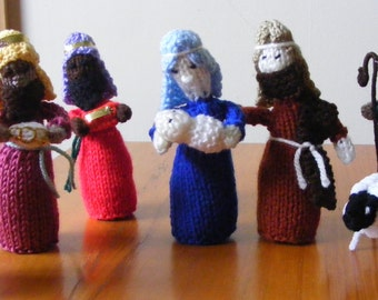 Nativity Set Scene Christmas Figures Holy Family from Ireland Irish Hand Knitted