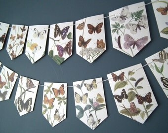 Butterfly Bunting, Butterfly Garland, Summer Decoration, Wedding Decor, Wedding Bunting, Wedding Garland, Decoration, Butterfly Decor