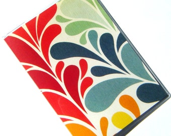 Passport Cover Holder Case -- Colorful Bursts