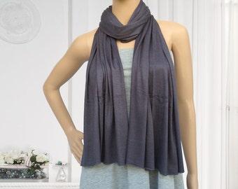 180x60cm dark grey jersey scarf muslim hijab fashion scarf