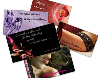 Custom Designed I Love You I Lust You Pocket Cards Icebreaker Note Cards Under The Hoode Intimate Jewelry and Gifts