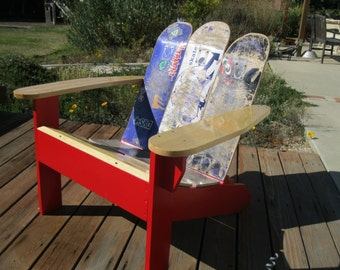 Adirondack Chairs using repurposed skateboards