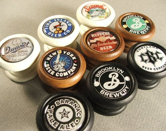 Vintage Reproduction New York Beer-Ale Cabinet Knobs...Price is for 1 Knob (Quantity Discounts Available!)