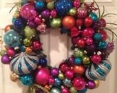 Multi Color Christmas ornament Wreath
