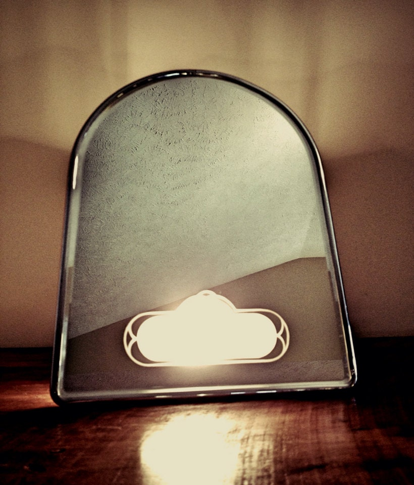 Mid Century Vanity Mirror with Light