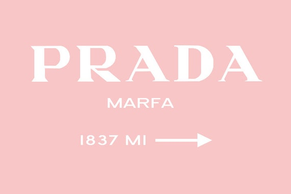prada marfa insprired print 40x30 on stretched canvas pink. Black Bedroom Furniture Sets. Home Design Ideas