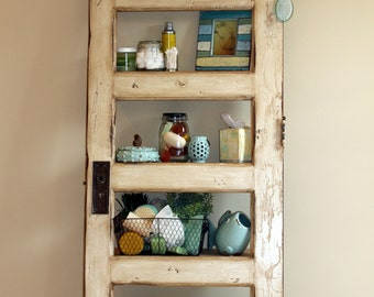 Antique White Door Bookcase