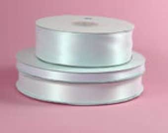 "white double faced satin ribbon 5/8"" wide 100 yds"
