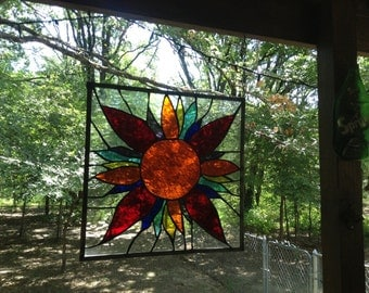 Items Similar To Stained Glass Sun And Moon Face On Etsy