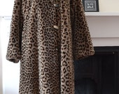 1960s French Vintage Faux Fur Swing Coat in Animal Print - Mint Vintage Condition