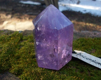 Reserved Lavender Amethyst  -  Therapeutic Quality Gemstone Standing Pillar for Energy Work - Meditation