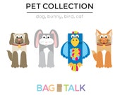 PETS Printable Paper Bag Puppet Cut Outs