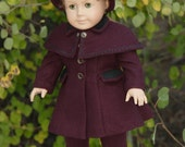 American Girl Doll 1950s Coat with Detachable Cape, Hat and Leggings.