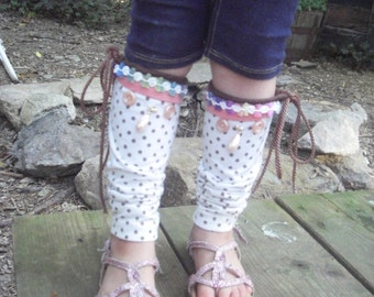 Upcycled, Recycled, Refashioned, Baby,Toddler Leg Warmers One-Of-A-Kind