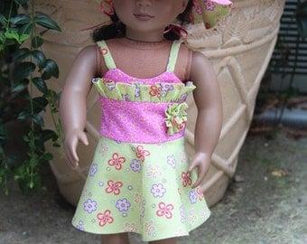 American Girl Summer Dress, Sun Dress, Party Dress, Summer Dress, Special Occasion Dress