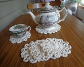 Four Coasters and Matching Tea Mat Doily