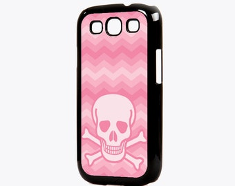 Pink Chevron Skull Galaxy S3 Case - Pink Chevron Galaxy S3 Case, (112)