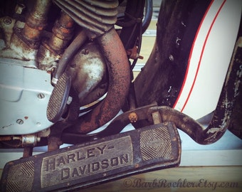 1934 Harley - 11x14 - Rustic Wall Art - Motorcycle Art Prints - Retro Print - Motorcycle Photography - Garage Art