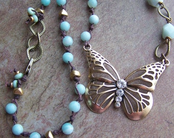 Butterfly in Amazonite