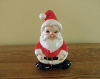 Lefton Winking Santa Napkin Holder