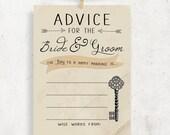 INSTANT DOWNLOAD - Advice for the Bride & Groom Wedding / Bridal shower cards