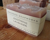 Soothing Lavender Soap, All Natural Soap, Handcrafted Soap Bars