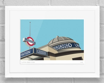 Clapham Common Station, London - Limited Edition Giclée Art Print / Poster