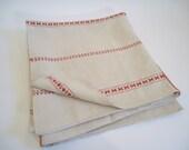 Antique Throw / Linen Cover / Duvet / Tablecloth / Bedspread / Hemp linen / Hand Loomed