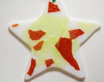 Fused Glass Star Ornament, Suncatcher