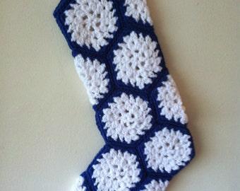Crochet Snowflake Christmas Stocking Free Shipping!
