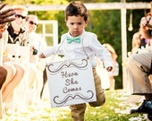 Ring Bearer Sign Here She Comes They Did it Lets Party