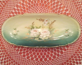 Handpainted Porcelain Dish marked Germany 747/375/59