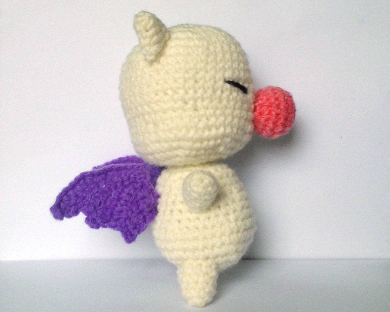 Flying Angel Pig Amigurumi Crochet Pattern : Moogle the Flying Pig Amigurumi Crochet Pattern PDF