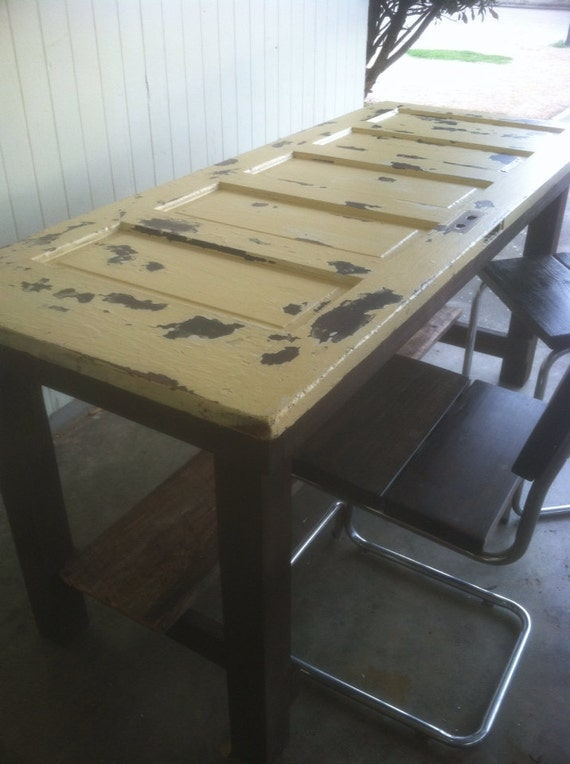 Counter Height Entry Table : Reclaimed Door Kitchen Island/Counter Height by Lapalletcreations