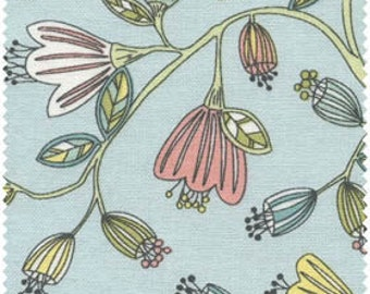 Escapade Floral in Pale Pink or Blue by Red Rooster - Yardage