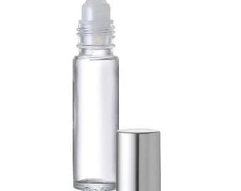 1/3 Ounce Clear Roll-On w/ Silver Cap - 4 Pack