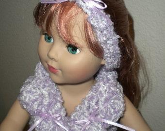 Crochet Doll Robe Crochet Doll Clothes ,Doll dress , 18 inch Doll clothes, Madium Alexander Doll, American Girl, MyLife,
