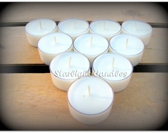 100 Scented Soy Tealight Candles - Weddings Bulk - Wedding Candles - Wedding Tealights - Bulk Candles