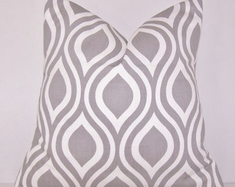 Grey Pillow Cover,Grey and White, Euro,Lumbar Pillow,Grey and White Pillow Cover,Couch Pillow,Bedding,Various Sizes