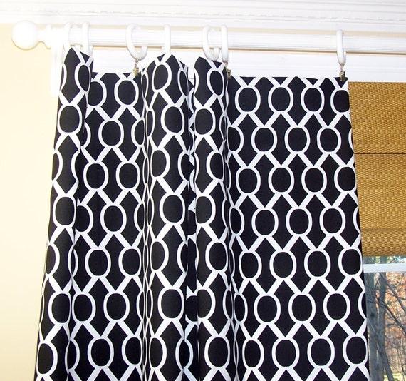 Black curtain fabric
